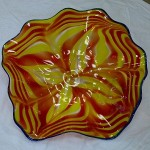 yellow-glass-plate