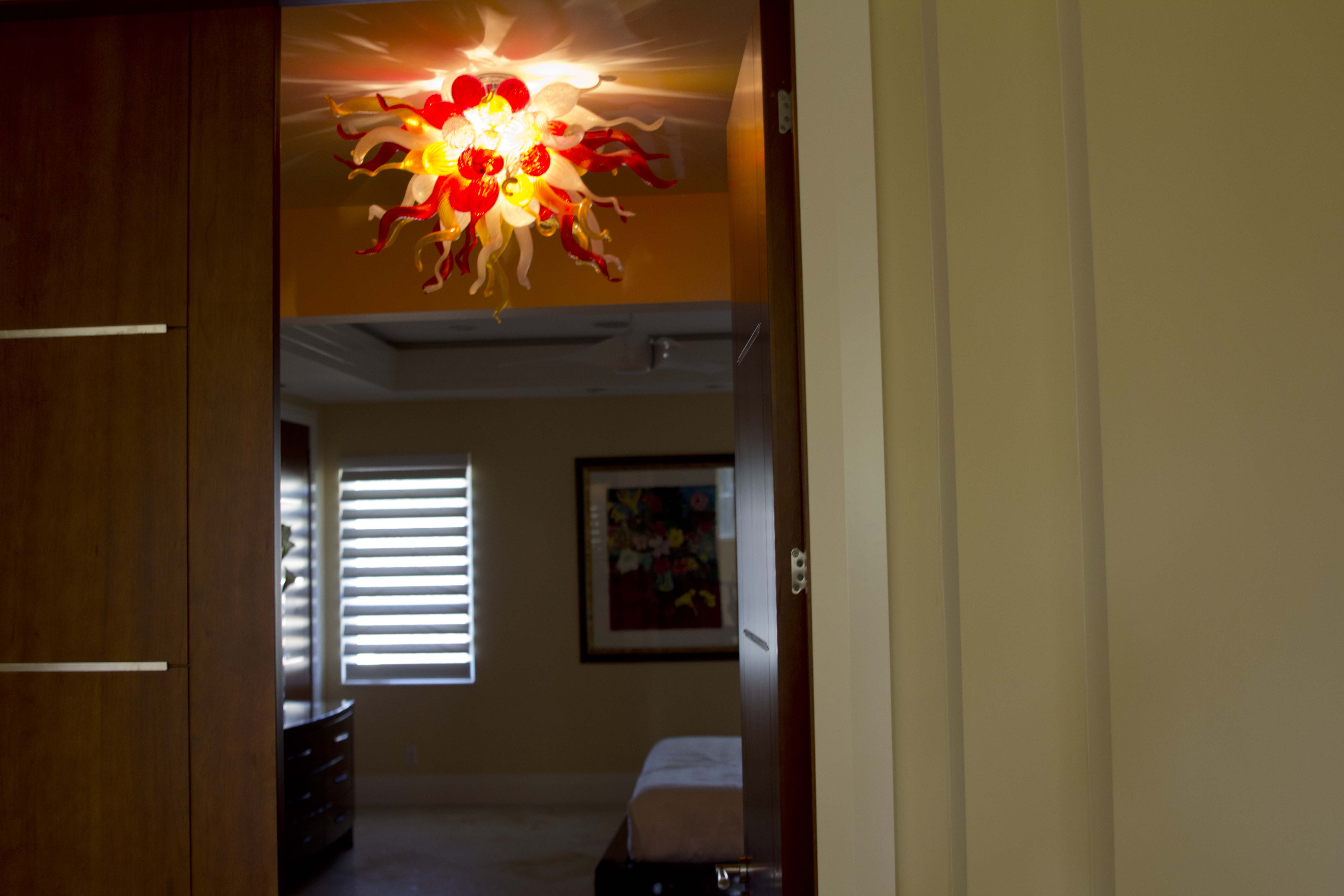 Guest room chandelier By Robert Kuster