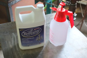 Bulk sized cleaner for the shop with our hnady pump sprayer...